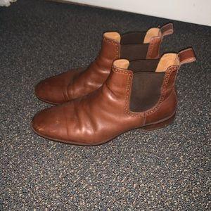 Men's leather Chelsea boots.